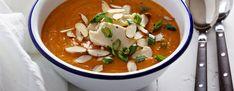 Cholesterin - Herbstmenü - Süßkartoffel-Mandel-Suppe