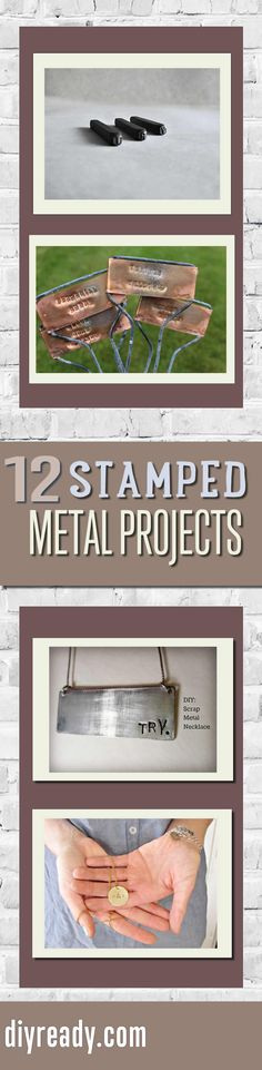 DIY Metal Stamping Projects for Cool DIY Metal Stamped Jewelry and More by DIYReady- Clever DIY Projects and Crafts! http://diyready.com/metal-stamping-ideas-diy-projects/