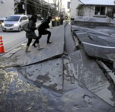 Moment; Crack. An earthquake has created a crack in the Earth. This is a moment of change