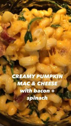 Healthy Eating Tips, Easy Healthy Recipes, Easy Meals, Pumpkin Mac And Cheese, Macaroni And Cheese, Good Food, Yummy Food, Healthy Pumpkin, Homemade Food