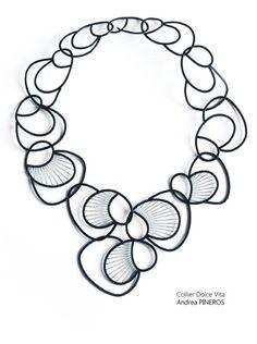 CIRCUITS BIJOUX - Andrea Pineros - dolce vita Sign necklace -   expo à TALENTS