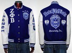 zeta phi beta nascar jackets   Zeta PHI Beta Long Sleeve Varsity Jacket s 3X   eBay
