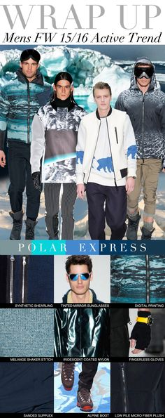 TREND COUNCIL F/W 2015- POLAR EXPRESS men's #fashion #style #trends