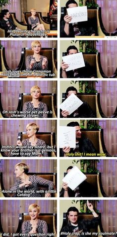 Jennifer Lawrence and Josh Hutcherson are soulmates.
