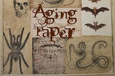 Techniques for aging paper