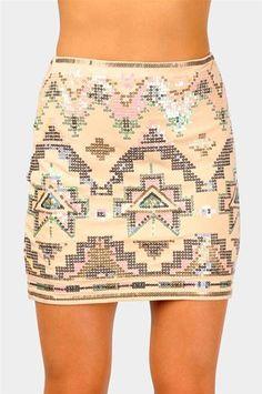 #Necessary Clothing       #Skirt                    #Techtonik #Mini #Skirt #Beige                      Techtonik Mini Skirt - Beige                                                  http://www.seapai.com/product.aspx?PID=9298