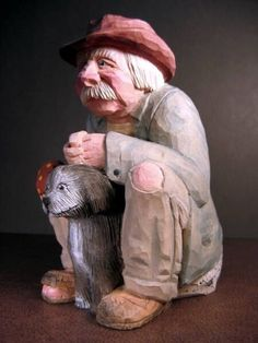 Carved wooden hobos depicting a tiny portion of the rich history of our country. Wood Carving Faces, Wood Carving Designs, Wood Carving Patterns, Wood Carving Art, Wood Carvings, Wooden Figurines, Candle In The Wind, Whittling, Little People