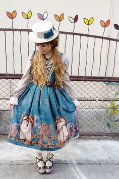 """shadow-walk: """" Sorry for the lack of coord update. Here's my Valentine outfit with Mozarabic Chant print :) Outfit Rundown JSK : Krad Lanrete Blouse : Btssb OTKs : Grimoire Hat : Victorian..."""