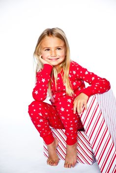 Red/Silve Stars Long Sleeves Pajamas - for my daughter
