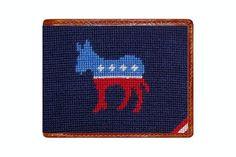 Democrat Needlepoint Wallet
