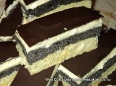 Mákos krémes Cookie Desserts, Fun Desserts, Cookie Recipes, Dessert Recipes, Hungarian Desserts, Hungarian Recipes, Torte Cake, Cake Bars, Bakery Recipes