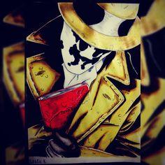 Desenho que fiz recentemente, pra quem não estiver reconhecendo é o Rorschach de Watchmen . deixe a opinião ai quem quiser. #watchmen #Rorschach #drawing #art #DC #HQs #superheroes #desenho #artist #fanart