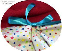 Stoffpakete - Stoffpaket♥Loop♥DIY b. Sterne/Dots Winterwarm - ein Designerstück von kreawusel-aufgehuebscht bei DaWanda