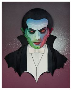Fantastic Hand-Crafted Paper Portraits Of Classic Horror Movie Monsters - DesignTAXI.com