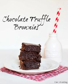 Chocolate Truffle Brownies—a layer of chewy brownie topped with a layer of fudgy chocolate truffle.