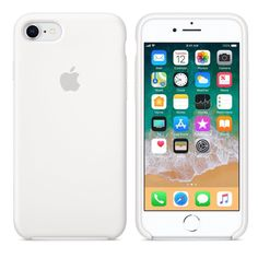 White Apple Silicone Iphone 8/7 Case