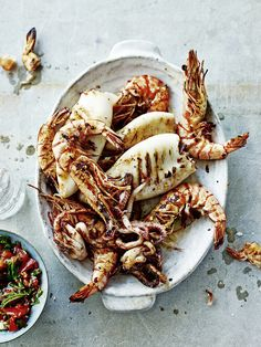 charred prawns + squid. I don't even love either but this looks delicious.