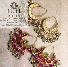 bridal jewelry for the radiant bride India Jewelry, Pearl Jewelry, Antique Jewelry, Jewelery, Silver Jewelry, Silver Earrings, Silver Necklaces, Heavy Earrings, Ruby Earrings
