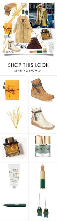 """""""Velvet Season #32"""" by strawberry-latte ❤ liked on Polyvore featuring Akris, FELMINI, Burberry, Smith & Cult, Library of Flowers, Balmain and Robert Lee Morris"""