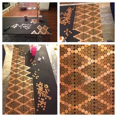 I have always said I want to do my kitchen floor in pennies! Love this!