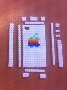 iPhone case made with perler beads