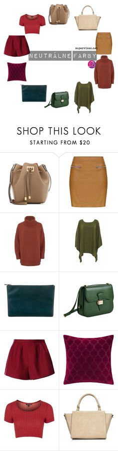 """Neutralne farby2"" by supervizaz ❤ liked on Polyvore featuring Michael Kors, Topshop, Polo Ralph Lauren, AX Paris, Viktor & Rolf, Dressage Collection, RED Valentino, Madison Park and Wallis"