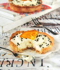Tartaleta con crema de naranja