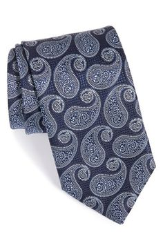 Canali Paisley Silk Tie available at #Nordstrom
