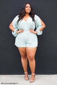 Forever 21 Plus Size Romper   - 11 Head-Turning Jumpsuits Under $100 Curvy Girls Will Live in This Summer
