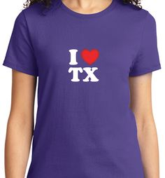 Are you proud to be a TEXAN.I Love TX Womens Fitted T Shirt .Quality Tees Made just for Texas! Made in USA Fast Shipping! In Stock. Can Ship Today.Click Here. http://smartteeshirt.com/as027/TX