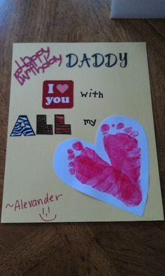 Handprint Card For Daddys Birthday