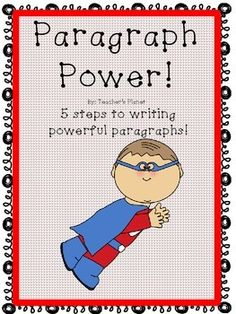 FREE Paragraph Writing  Paragraph Power!5 steps to writing powerful paragraphsHelp your students become accomplished writers with this 5 step approach. To celebrate my 500th follower, I am offering this free writing outline. The most reluctant writers can become confident writers when the steps to writing a paragraph are broken down. * I have many FREE products.