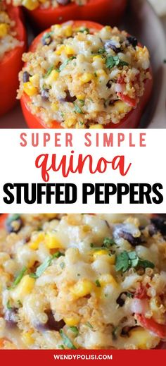 These are quite simply the best Best Easy Quinoa Stuffed Peppers of All Time! Simple to make, delicious and nutritious, you will find yourself making this dish time and again. This is a great make ahead weeknight meal. Quinoa Recipes Easy, Veggie Recipes, Diet Recipes, Cooking Recipes, Healthy Recipes, Vegetarian Quinoa Recipes, Meals With Quinoa, Quinoa Salad Recipes, Going Vegetarian