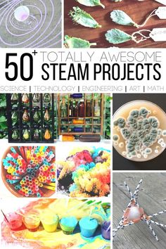 Totally Awesome STEAM Projects to Boost Creativity : Totally Awesome STEAM Projects for Kids What if I told you I had the secret to getting your kids to love learning and I could boost their creativity? Sounds pretty crazy right? Steam Art, Stem Steam, Stem Science, Science For Kids, Science Experiments, Ks2 Science, Science Room, Science Resources, Science Ideas
