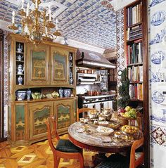 "Kitchen in designer Howard Slatkin's NYC apartment, from his book ""Fifth Avenue Style"". Photo by Tria Giovan."