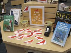 Put a bird on it library display (via librarian)
