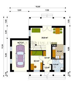 одноэтажный дом с гаражом проект - Поиск в Google