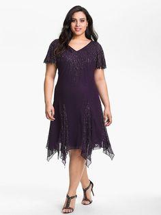Sheath_Column V-neck Knee-Length Short Sleeves Beading Chiffon Mother of the Bride Dresses $454 Plus Size Mother of the Bride Dresses