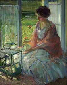 The Green Cage by Richard E. Miller, c. 1910-1914, Akron Art Museum