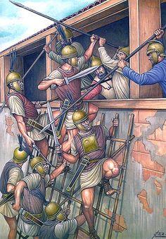 """Asalto a las murallas de Cartago Nova, 209 aC."""""""