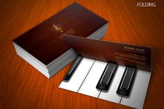 28 Musician Business Card Design You Must See Folded Business Cards, Business Card Design, Creative Business, Creative Logo, Musician Business Card, Piano, Corporate Stationary, Corporate Identity, Name Card Design