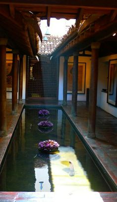 Courtyard with reflecting pool.