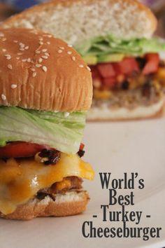 World's best turkey cheeseburger recipe #shop #saycheeseburger #cbias