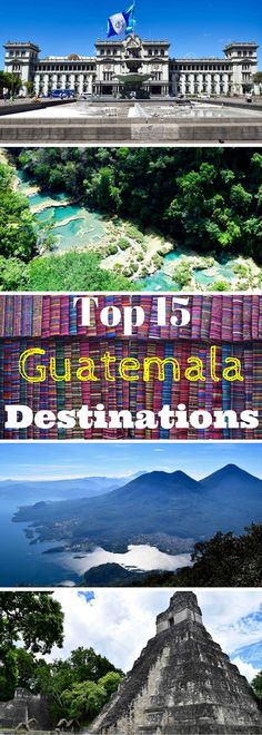 Ruins, volcanoes, lakes, villages & markets... Guatemala is a country of adventure & culture, with Maya traditions alive & well. The top destinations are Antigua, Tikal, Lake Atitlan, Semuc Champey & Chichicastenango but there are also many other interesting places to visit. Find out what to see & do in our ultimate travel guide to the Best of Guatemala!