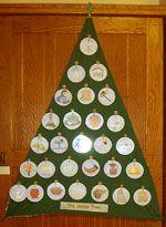 Jesse Tree (felt tree on wall with velcro ornaments)
