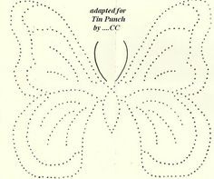 Suestreehouse: Butterfly Pattern for Tin Punch