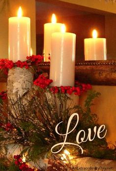 Light the Candle of Love :: Advent :: 12 Days of Christmas :: AnExtraordinaryDay.net