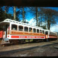 Manx Electric Railway running between Douglas and the Isle of Man.