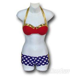 Wonder Woman Bandeau Bikini
