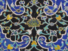 Detail of Tilework on the Friday Mosque or Masjet-Ejam, Herat, Afghanistan